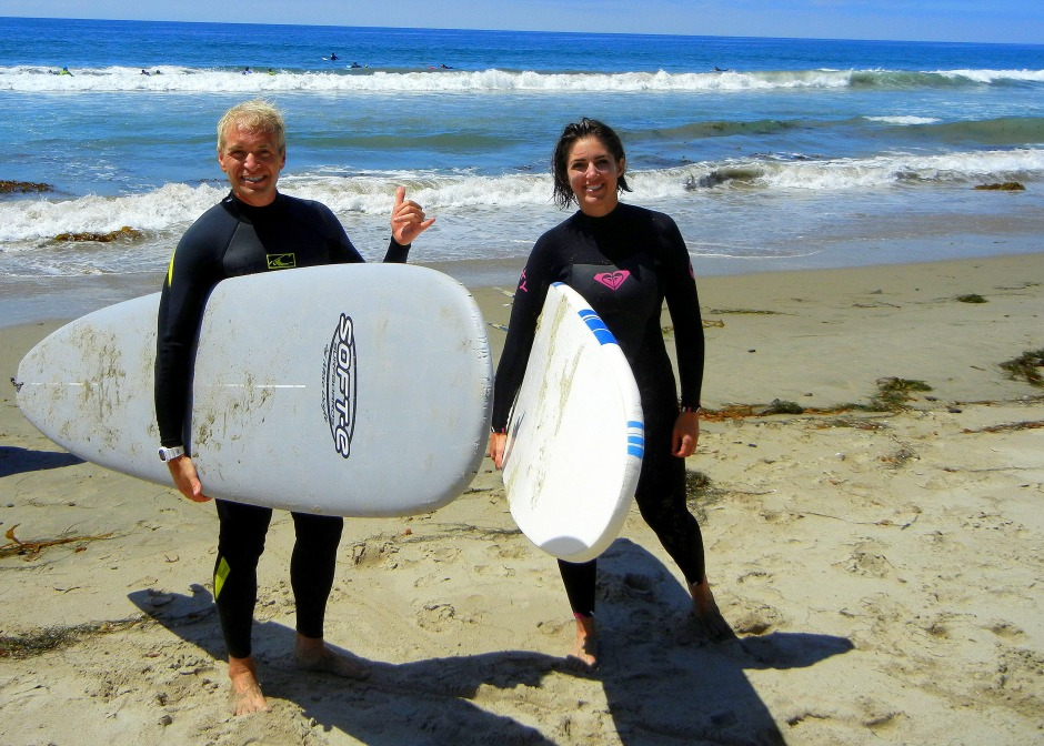 Gary and Karen at Into the Fire Sessions Surf + Leadership Retreat 8/25/12